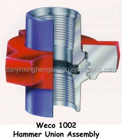 fmc weco fig 602 carbon steel pipe hammer union