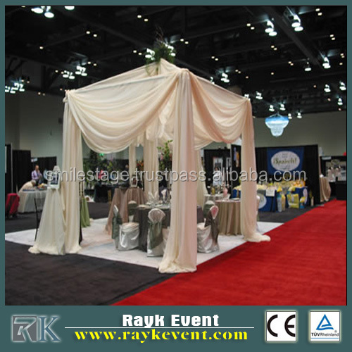 portable telescopic pipe and drape backdrop wedding tent for sale