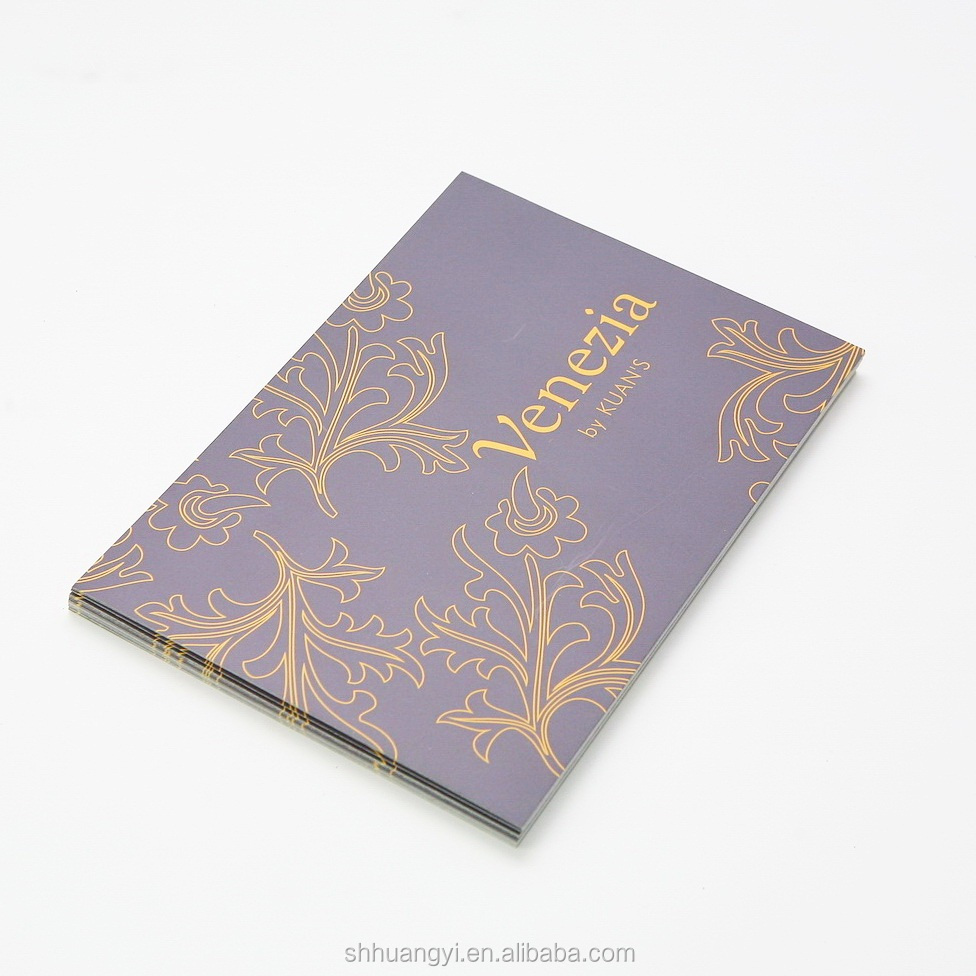 Gift card purple printing coated paper for festival greeting