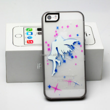 Fashion angle pattern glow case for mobile phone fully protective glow case TPU back cover case with fluorescent effect