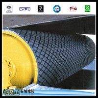 professional ceramic pulley lagging rubber sheet