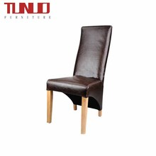 PU dining chair for hotel,OAk wood legs,Upholstered,High back,TB-7492