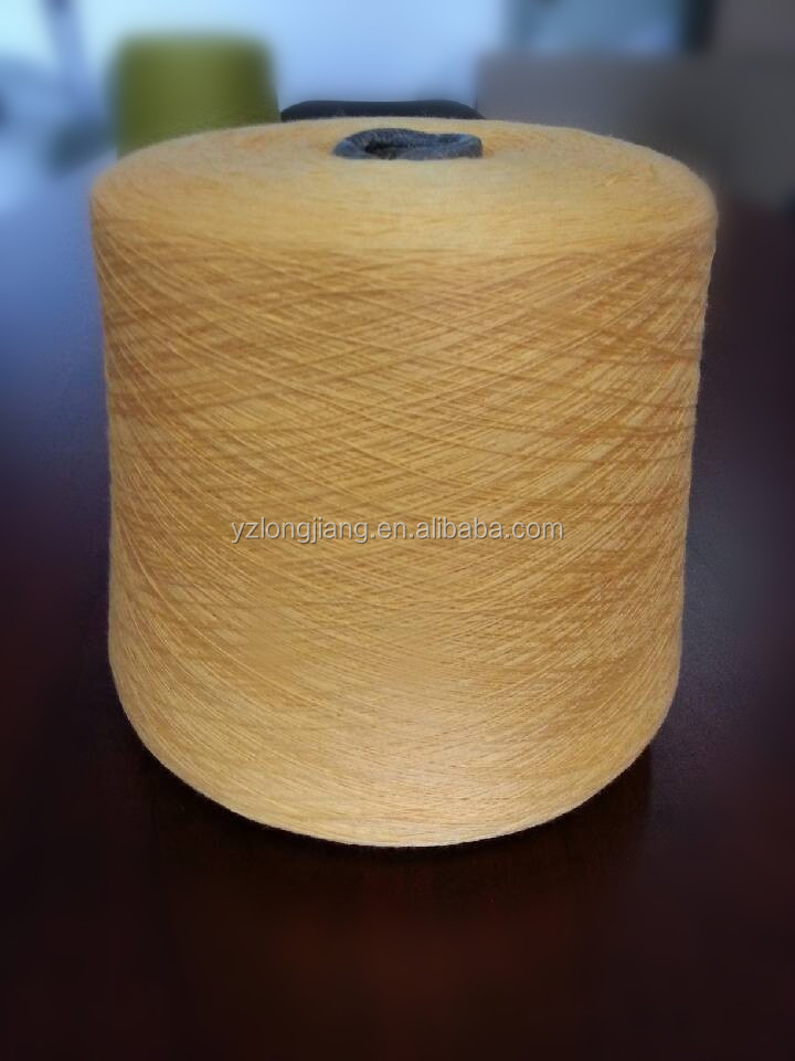 recycled polyester mix cotton blend yarn for sock 7s-60s