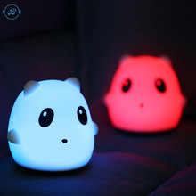 New Baby Bedroom Lamps Cartoon Pets Rabbit Panda silicone Sleep Led Kids Lamp Bulb Night Light for Children