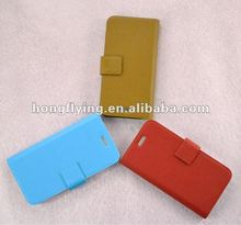 Wallet folio leather mobile phone case for iphone 5/5G