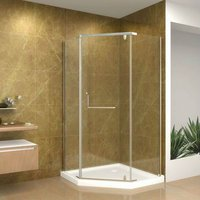 Tempered Glass Neo-Angle Semi-frameless Shower Enclosure