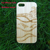 Custom logo laser designs bamboo wood phone case for iphone 5