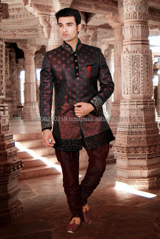 Pakistani Men's Sherwani mens pakistani sherwani black sherwani designs for men R3354