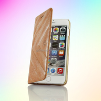 Customized PU leather phone case,two fold flip cover for iphone6 plus
