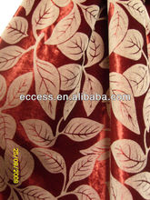 cotton and rayon flocking velvet fabric for curtain sofa fabric