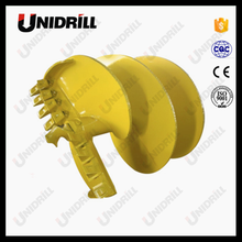 Rotary drilling rig drilling tools double start single flight rock / soil auger