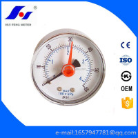 Double Indicator Miniature 0-60psi/bar Bourdon Tube Red Pointer Stainless Steel Case Lpg Pressure Gauge