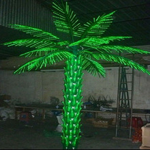 Hot Sale! 3.5m realistic artificial outdoor lighted led palm coconut tree