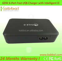 Newest Original High Capacity Travel Wall Charger QC 2.0 quick charge 2.0 tablet charger for blackberry Playbook