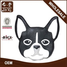 Cute dog shaped leather coin purse