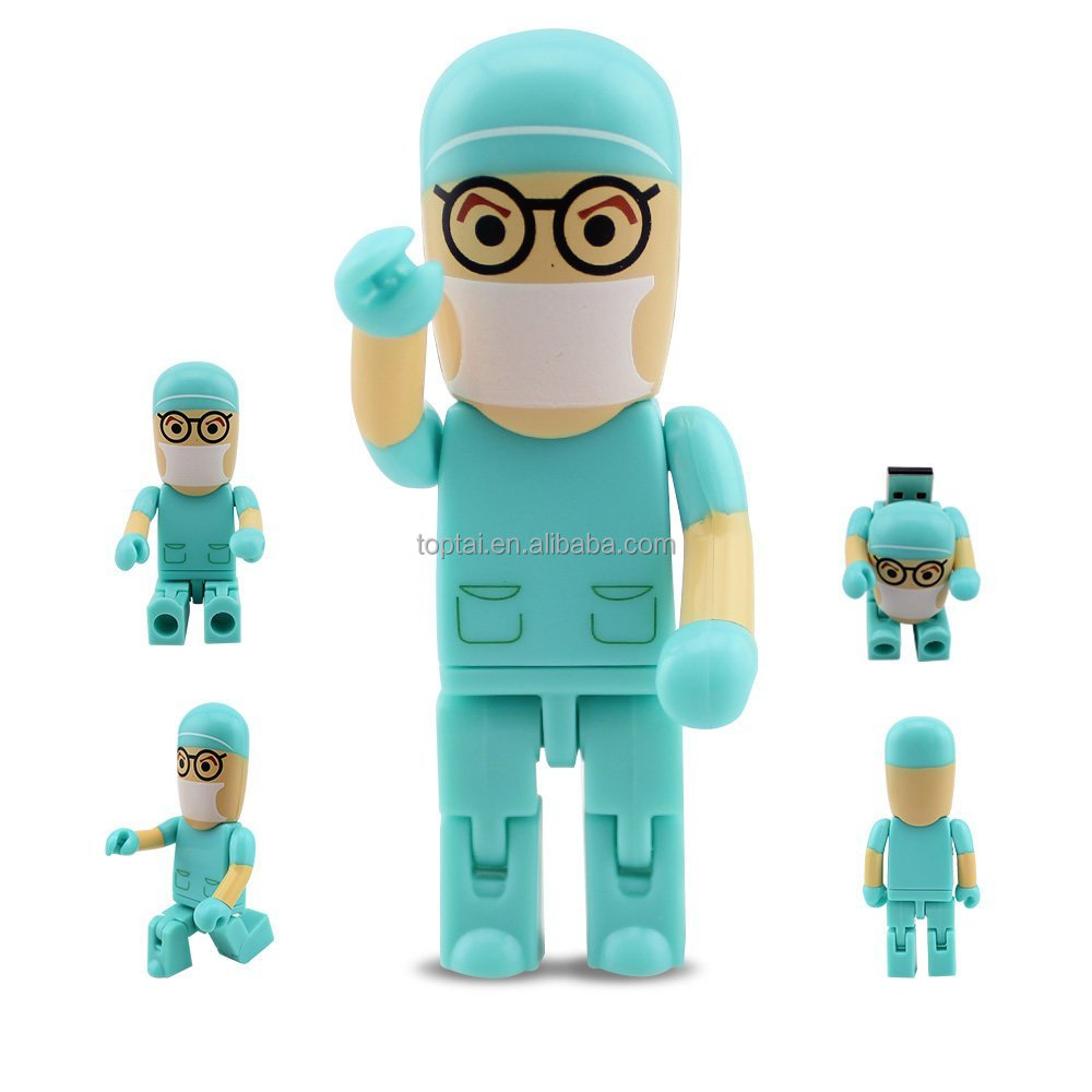 2016 moveable Doctor nurse model usb flash drive 8GB 16GB 32GB 64GB USB 2.0 Pendrive memory drive
