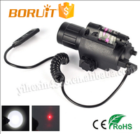 Boruit Hot Selling White Light 1 Red Laser for Hunting Flashlight