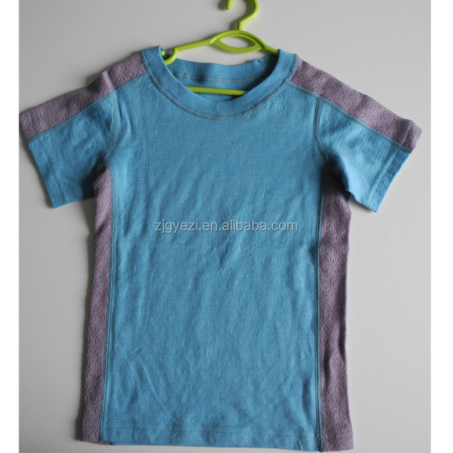 100% Merino Wool Short Sleeve T- Shirt For Kids