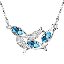 Made With crystal from Swarovski Wholesale Fish Necklace For Woman Charm Necklace