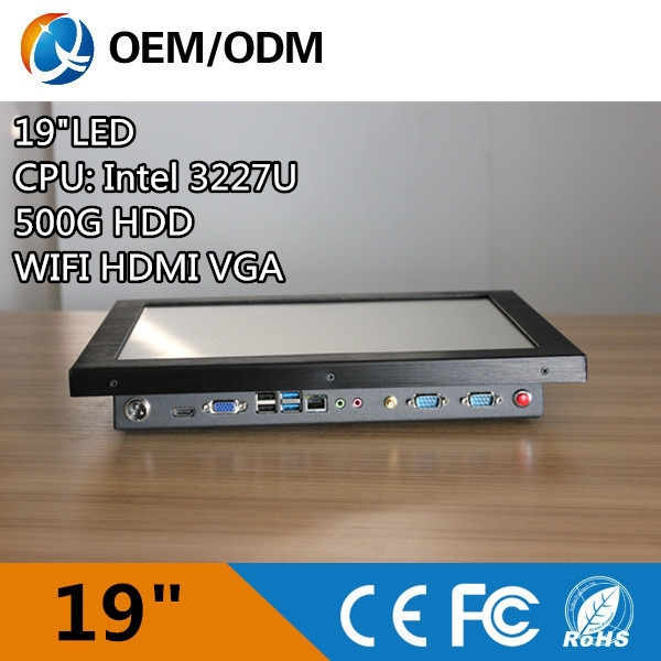 x86 single board computer 19inch Industrail metal open frame touch screen All in one PC
