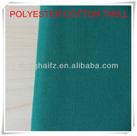 2014 high quality poly cotton twill fabric