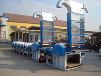 2 sets opening machine and 6sets cleaning machinecotton waste recycling line