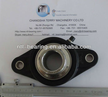 Stainless steel pillow block bearing with plastic housing SUCFL206