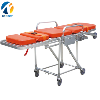 AC-AS006 hot sale Hospital used stretcher collapsible lock ambulance chair stretcher mechanism for sale uk