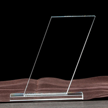 simple clear crystal trophy rectangle shape cheap crystal award trophy