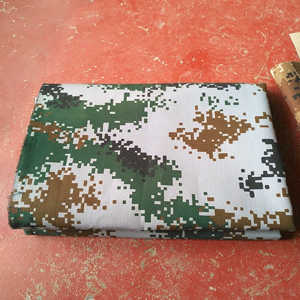 300gsm Waterproof Camouflage Printed Polyester Army Tent Fabric