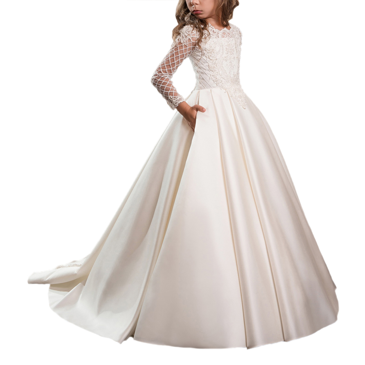 Wholesale Flower Girl With Train Online Buy Best Flower Girl With
