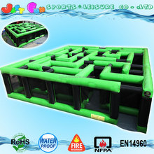 customized labyrinth inflatable maze game for sale