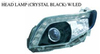 FOR TOYOTA COROLLA AXIO/FIELDER 06'-08' Auto Car head lamp head light(CRYSTAL BLACK W/LED)