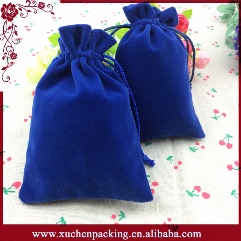 Factory Direct Selling New Hot Style Promotion Gift Drawstring Velvet Beads Bags