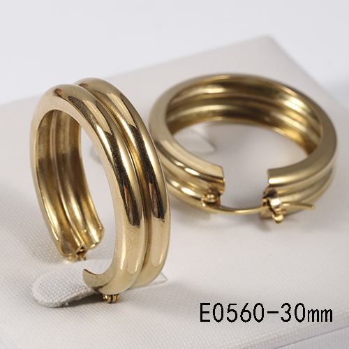 Wholesale cheap price stainless steel gold plated color 30mm afro earrings