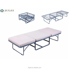 transformable space saving metal folding bed cot with mattress DJ-PQ04