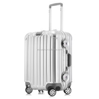 Aluminium frame luggageTravel bag/PC trolley luggage/ PC luggage case/ Hard suitcase