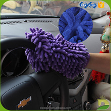 wholesale custom microfiber car dust wash chenille mitt/glove