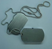 metal dog tag necklace usb flash drives with logo