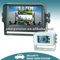 "7"" touch button touch screen quad monitor camera system"