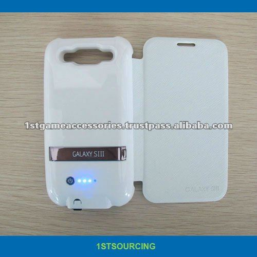 2600mAh Rechargeable External Battery Case for Samsung Galaxy S3 i9300
