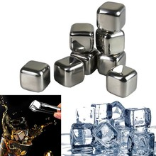 Best Selling Wholesale 8 Stainless Steel Reusable Ice Cubes with Tongs