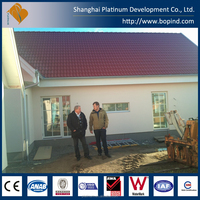 Plant Guard House Villa Sentry Box House Toilet Office Workshop Use and Steel Material luxurious prefab villa for sale