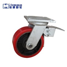kinds of color pu caster wheel with brake for container house