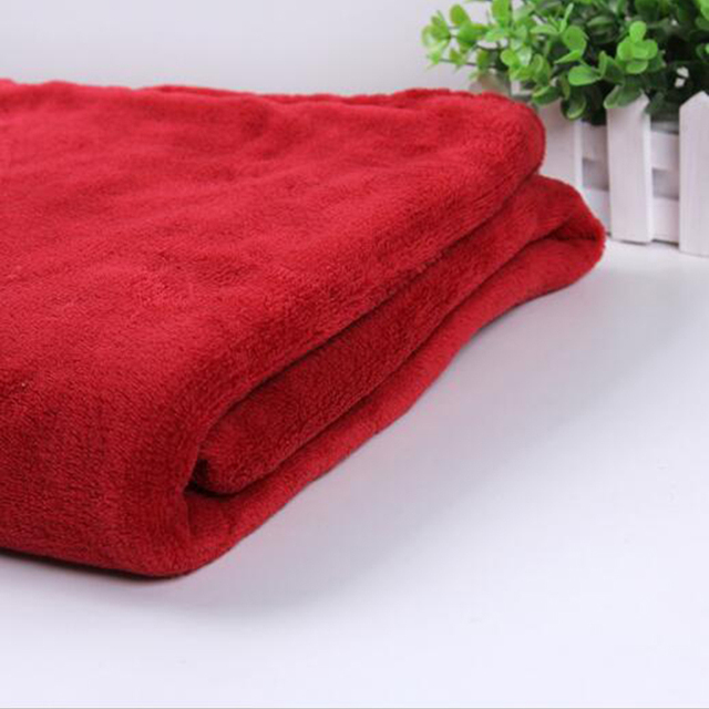 2018 Hot Sale New style Plain Solid Dyed Soft-touch Factory Supply Coral Fleece Blanket