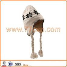 Custom design fashion winter hat for young girls
