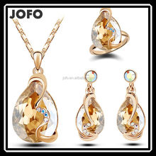 Crystal Jewelry Set Band 18K Gold Plated Sets Fashion Party Rhinestone Jewelry JDJ0052