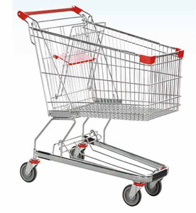 125L Germany style supermarket folding shopping carts
