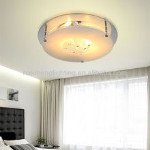 Modern flat glass ceiling lamp