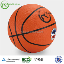 Zhensheng Best Selling Promotional Colorful rubber basketball